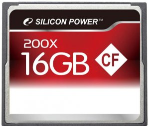 Карта памяти Silicon Power 200X CompactFlash 16GB